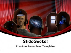 Theater Minds Entertainment PowerPoint Themes And PowerPoint Slides 0711