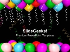Theme Balloons For Party And Celebration PowerPoint Templates Ppt Backgrounds For Slides 0613