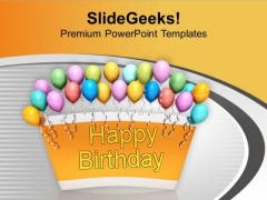 Theme Balloons For Party Celebration PowerPoint Templates Ppt Backgrounds For Slides 0513