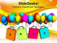Theme Of Sale With Shopping Bags PowerPoint Templates Ppt Backgrounds For Slides 0713