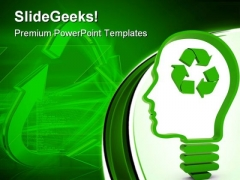 Think About Recycling Nature PowerPoint Themes And PowerPoint Slides 0911