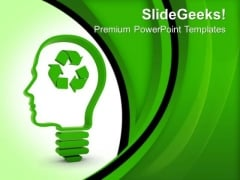 Think About Recycling Technology PowerPoint Templates And PowerPoint Themes 0712