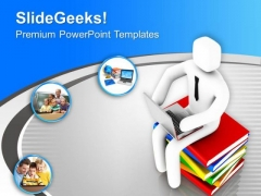 Think About The Online Education PowerPoint Templates Ppt Backgrounds For Slides 0613