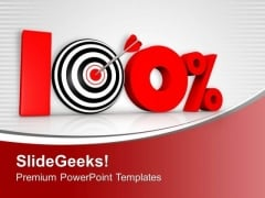 Think For 100 Percent Value In Business PowerPoint Templates Ppt Backgrounds For Slides 0413