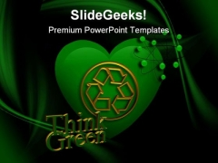 Think Green Environment PowerPoint Templates And PowerPoint Backgrounds 0111
