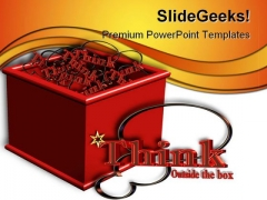 Think Outside The Box Business PowerPoint Themes And PowerPoint Slides 0511