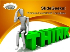 Thinking Money PowerPoint Themes And PowerPoint Slides 0211