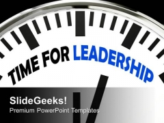 This Is The Time For Leadership PowerPoint Templates Ppt Backgrounds For Slides 0613