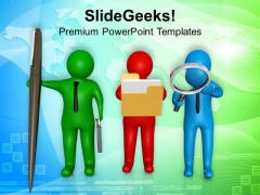Three Different People With New Ideas PowerPoint Templates Ppt Backgrounds For Slides 0713
