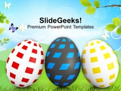 Three Eggs In Row Spring Season PowerPoint Templates Ppt Backgrounds For Slides 0313