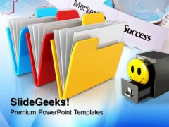 Three Folder Computer PowerPoint Templates And PowerPoint Themes 0712