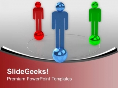 Three Men Forms Social Network Communication PowerPoint Templates Ppt Backgrounds For Slides 0213
