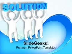 Three Men Join Forces To Lift Solution PowerPoint Templates Ppt Backgrounds For Slides 0113