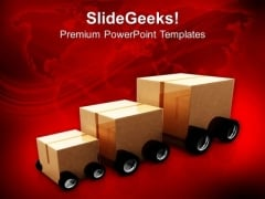 Three Package For Delivery Transportation PowerPoint Templates Ppt Backgrounds For Slides 0313