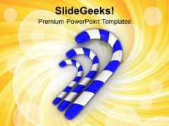 Three Sugar Candy Celebration Theme PowerPoint Templates Ppt Backgrounds For Slides 0413