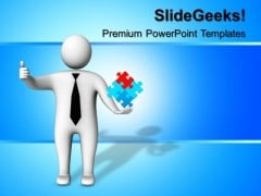Thumbs Up Right Solution Success PowerPoint Templates And PowerPoint Themes 0612