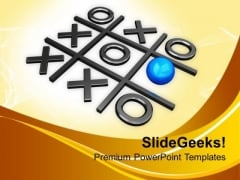 Tic Tac Toe Game Leadership Concept PowerPoint Templates Ppt Backgrounds For Slides 0313