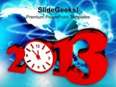 Time Concept With Clock New Year Business PowerPoint Templates Ppt Background For Slides 1112