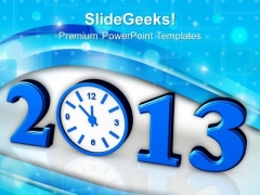 Time Concept With Clock New Year Festival PowerPoint Templates Ppt Backgrounds For Slides 1112