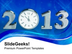 Time Concept With Clock New Year PowerPoint Templates Ppt Backgrounds For Slides 1212