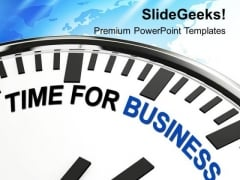 Time For Business Improvement PowerPoint Templates Ppt Backgrounds For Slides 0313