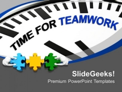 Time For Business Teamwork And Partnership PowerPoint Templates Ppt Backgrounds For Slides 0513
