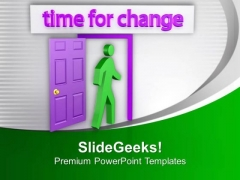 Time For Change Achieve New Opportunities PowerPoint Templates Ppt Backgrounds For Slides 0713