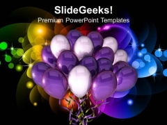 Time For Party Celebration Balloons PowerPoint Templates Ppt Backgrounds For Slides 0313