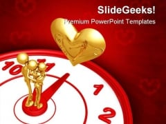 Time For Romance Family PowerPoint Backgrounds And Templates 1210
