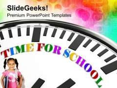 Time For School For Students PowerPoint Templates Ppt Backgrounds For Slides 0313