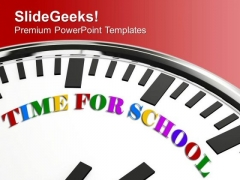 Time For School PowerPoint Templates Ppt Backgrounds For Slides 0413