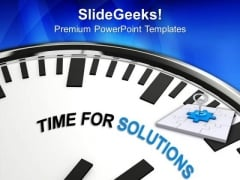 Time For Solutions In Business PowerPoint Templates Ppt Backgrounds For Slides 0513