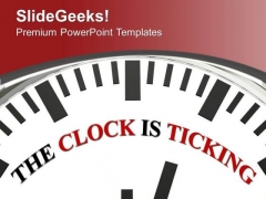 Time Is Running Clock PowerPoint Templates Ppt Backgrounds For Slides 0313