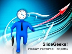 Time Is Running Idea Business Concept PowerPoint Templates Ppt Backgrounds For Slides 0413