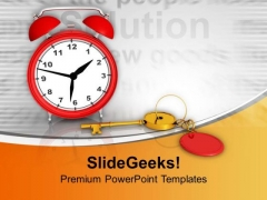 Time Management Is The Key Of Success PowerPoint Templates Ppt Backgrounds For Slides 0513