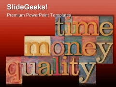 Time Money Quality Shapes PowerPoint Themes And PowerPoint Slides 0411