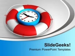 Time To Be Safe With Alarm Clock PowerPoint Templates Ppt Backgrounds For Slides 0313