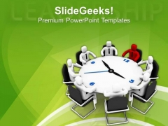 Time To Become A Leader Business Concept PowerPoint Templates Ppt Backgrounds For Slides 0513