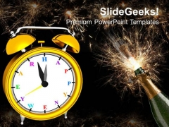 Time To Celebrate New Year PowerPoint Templates Ppt Backgrounds For Slides 1212