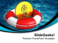 Time To Guard Dollars With Lifeguard PowerPoint Templates Ppt Backgrounds For Slides 0313