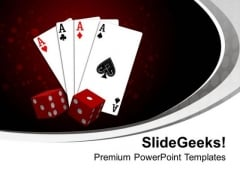 Time To Play With Cards Entertainment PowerPoint Templates Ppt Backgrounds For Slides 0513