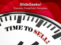 Time To Sell Marketing PowerPoint Templates Ppt Backgrounds For Slides 0113