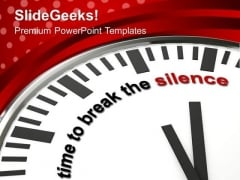 Time To Speak Up PowerPoint Templates Ppt Backgrounds For Slides 0513