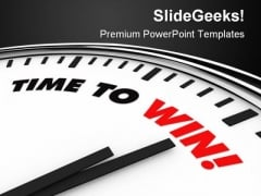 Time To Win Business PowerPoint Template 0610