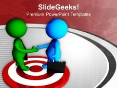 To Achieve Target Make A Good Relation PowerPoint Templates Ppt Backgrounds For Slides 0613