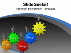 To Get Success Focus On Strategy PowerPoint Templates Ppt Backgrounds For Slides 0713