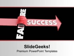 To Get Success Jump The Failures PowerPoint Templates Ppt Backgrounds For Slides 0513