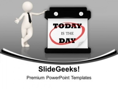 Today Is The Day Hanging Wall Calendar PowerPoint Templates Ppt Background For Slides 1112