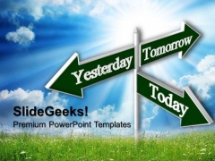 Today Tomorrow Future Signs PowerPoint Templates And PowerPoint Themes 0612