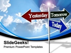 Today Tomorrow Road Sign Future PowerPoint Templates And PowerPoint Themes 0612